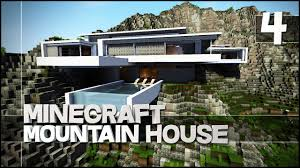 Modern Mountain House Minecraft Lets Build Modern Mountain House Finale Youtube