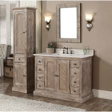 bathroom quot mission linen: rustic style carrara white marble top  inch bathroom vanity with matching wall mirror and