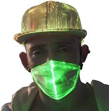 1clienic <b>LED Mask</b> Light Up <b>Rave Mask</b> 7 Glowing Colors <b>LED</b> Dust ...