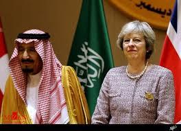 Image result for در سفر به عربستان نخست وزیر انگلیس