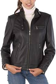 BGSD Women's <b>Julie Leather</b> Moto Biker Jacket (Regular & Plus Size)