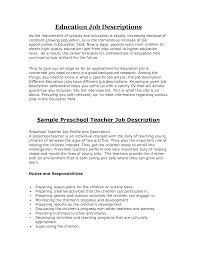 cover letter good teacher resume examples cover letter elementary education daycare certificationsample resume preschool teacher extra sample resume for daycare teacher