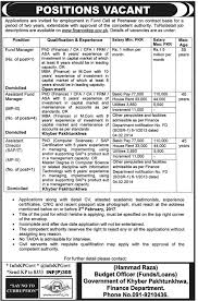 finance department kpk govt jobs 2017 for fund manager assistant official advertisement for finance department kpk govt jobs 2017 for fund manager assistant fund manager others