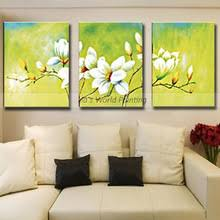Top aritist 3 Panel high quality 100% Hand Painted flower Oil ...