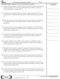 Fraction WorksheetsDivision as Fractions - Word worksheet ...