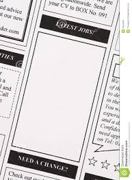 latest jobs newspaper clipping royalty stock photography latest jobs newspaper clipping