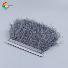 wholesale Gray real <b>ostrich</b> feathers trims Height <b>10 15cm</b> feather ...