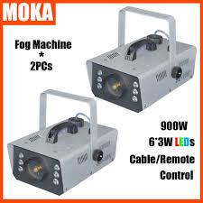 2pcs remote control smoke machineled colorful fog machinehalloween dj party disco christmas cheap lighting effects