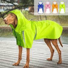<b>Dog Raincoat</b> Reflective <b>Rain Jacket Waterproof Pet</b> Clothes Safety ...