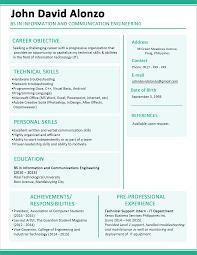 sample resume format for fresh graduates one page format 5 sample of combination resume for teacher free combination resume template