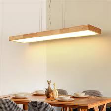LukLoy <b>Nordic Modern Minimalist</b> Solid Wood Pendant Light <b>LED</b> ...