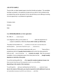 44 fantastic offer letter templates employment counter offer job offer letter 04