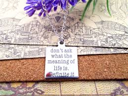 meaning life promotion shop for promotional meaning life on fashion stainless steel necklace don t ask waht the meaning of life is definite it charms gift more style for choosing