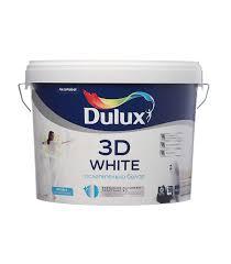 <b>Краска</b> водно-дисперсионная интерьерная <b>Dulux</b> 3D White белая ...