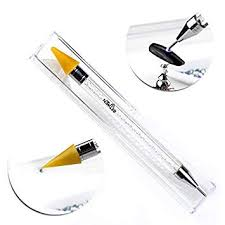 dual ended wax pencil for rhinestone pick up stone picker nail dotting pen crystal beads handle studs