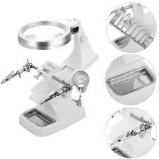 daniu multifunctional welding magnifier <b>led</b> helping hand <b>soldering</b> ...