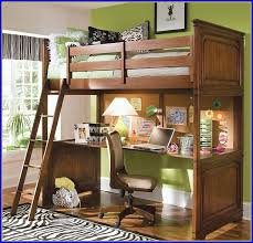 loft bed with desk underneath and stairs bed with office underneath