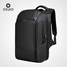 <b>OZUKO</b> Men <b>17 inch</b> Laptop Backpack Large Capacity USB ...
