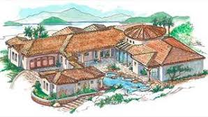 Spanish House Plans  amp  European Style Home Designs by THDimage of House Plan