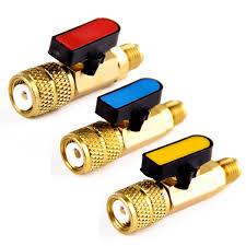 3pcs 3 Color <b>R410A</b> Refrigerant <b>Valve</b> AC <b>Charging Hoses</b> Brass ...