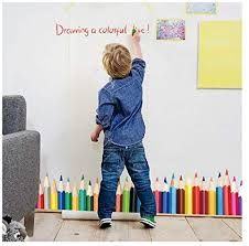 Wall Decals For Classroom - Colorful Crayons Vinyl ... - Amazon.com