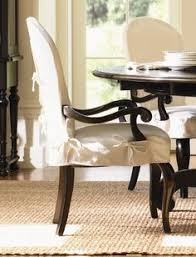 dining chair arms slipcovers: lexington furniture long cove summerville arm chair w white slipcover amp black finish