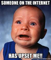 Someone on the internet has upset me!! - Crying Baby | Meme Generator via Relatably.com