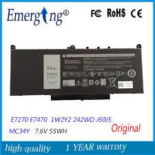 7.6V 55Wh <b>New Original Laptop</b> Battery for Dell E7270 E7470 ...