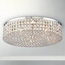 "Velie 16"" Wide Round <b>Crystal Ceiling Light</b> - #3C750 