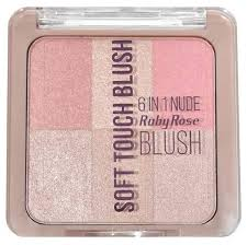 Ruby Rose <b>Палетка для макияжа</b> 6 в 1 Soft Touch Blush — купить ...