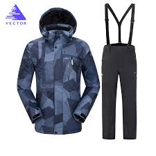 <b>2019</b> Hot Brand Warm Winter <b>Ski Suit</b> Set <b>Men</b> Windproof ...