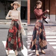 HAYBLST Brand Skirt Womens 2019Autumn Winter Plus Size3XL ...