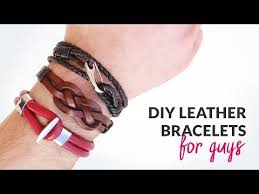 DIY 3 Styles of <b>Leather Bracelets</b> for Guys | Curly Made - YouTube