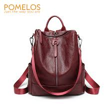 <b>POMELOS Backpack Women High</b> Quality Soft PU Leather ...