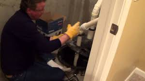 How to Install a Sump Pump with Radon Mitigation System - YouTube