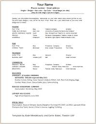 best acting resume template actors resume template word