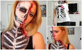 i hope that this video helps if you decide to give this make up look a pretty half skull tutorial