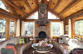 fascinating craftsman living room chairs furniture: craftsman living room with large picture windows and stone fireplace