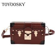 <b>TOYOOSKY</b> Small Women Box Bags Black Leather Female ...