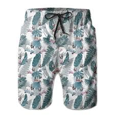 UHT28DG Wild Flowers and Insects Pattern <b>Mens</b> Beach Board ...