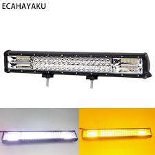 Acheter <b>ECAHAYAKU 20inch</b> Flash <b>288W</b> Triple Rangée LED Barre ...