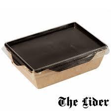 Салатник с прозрачной <b>крышкой</b> Eco OpSalad 500 <b>Black Edition</b> ...