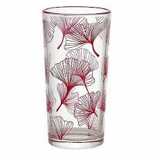 """<b>Набор стаканов</b> 230 мл <b>6 штук</b> 1256/91 """"Ботаника"""" красный"""