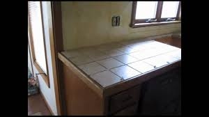 Kitchen Tile Countertop Ceramic Tile Kitchen Counter Top Youtube