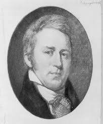 Picture of American explorer William Clark. Reproduction of watercolor facsimile of portrait by Charles Willson Peale in Independence Hall. 1903. Credits - william_clark_01