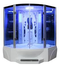 bathtub modern master bathroom shower fancy contemporary steam shower unit with blue lights inside also whit