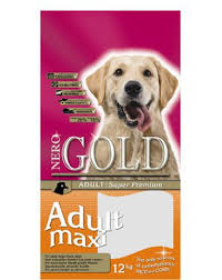 Natural feed for large <b>adult</b> dogs <b>Nero Gold</b> Maxi — Pawnature