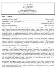 sample resumes military to civilian federal and more next