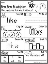 1000+ ideas about Sight Word Worksheets on Pinterest | Sight Words ...Your students will learn their sight words in no time as they read, write, clap, color, trace, spell, find and tell! Use these printables