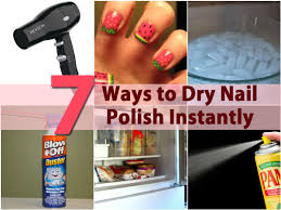 Image result for How do we nail polish dry